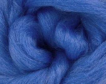 Cornflower Corriedale 2 oz World of Wool Roving for Felting Spinning Fiber Arts