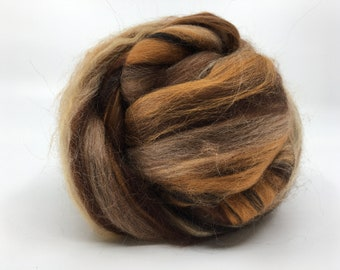 Milky Way Big Sky Fiber Arts Signature Blend Two Ounces  Merino Tussah Silk Combed Top Wool Roving for Felting, Spinning