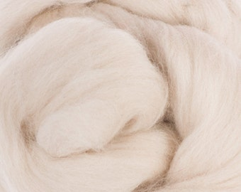 Two Ounces Extra Fine Merino Wool Roving, Color Sand
