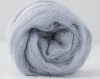 Two Ounces Extra Fine Merino Wool Roving, Color Shabby Gray