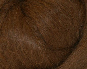 Dark Brown Baby Alpaca Top Two Ounces for Felting, Spinning
