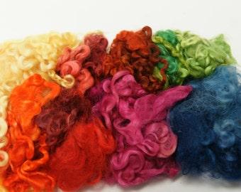 Wensleydale Locks Assorted Colors 1 Ounce for Felting, Fiber Arts