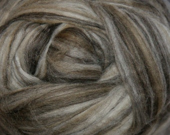 Two Ounces Extra Fine Wool Roving Sugar Candy, Color Cappuccino