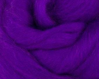 Royal Violet Corriedale 2 oz  Roving for Felting Spinning Fiber Arts