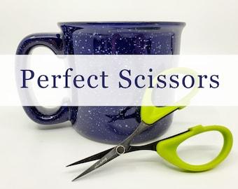 Perfect Scissors, Karen Kay Buckley 4 inch Green Small Scissors, sewing scissors, embroidery scissors