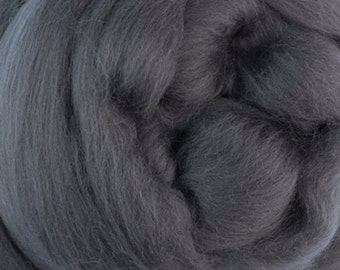 Two Ounces Extra Fine Merino Wool Roving, Color Storm