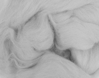 Two Ounces Extra Fine Merino Wool Roving, Color Cloud