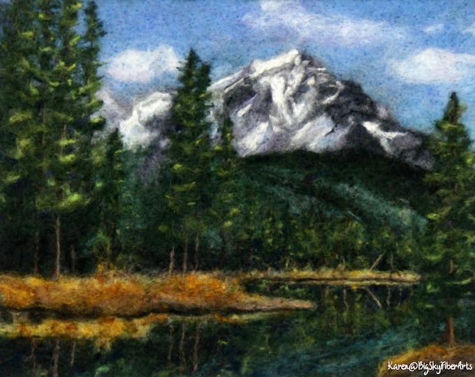 Featured listing image: Alpine Beauty Companion Course Kit, needle felting, wool painting, 2d felting