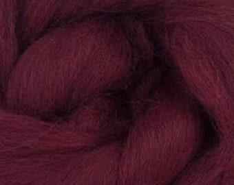 Burgundy  Corriedale 2 oz  Roving for Felting Spinning Fiber Arts