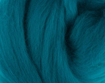 Two Ounces Extra Fine Merino Wool Roving, Color Cobalt