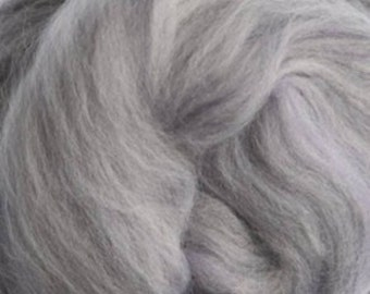 Two Ounces Extra Fine Merino Wool Roving Sugar Candy, Color Winter for Felting and Spinning