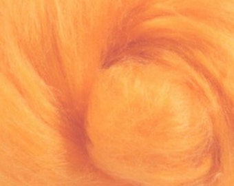 Tussah Silk Top One Ounce Color Melon For Felting or Spinning