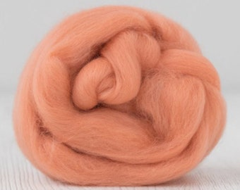 Two Ounces Extra Fine Merino Wool Roving, Color Rouge