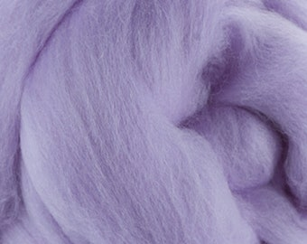 Two Ounces Extra Fine Merino Wool Roving, Color Lavender
