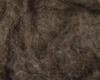 Light Brown De-Haired Yak Down One Ounce for Felting, Spinning