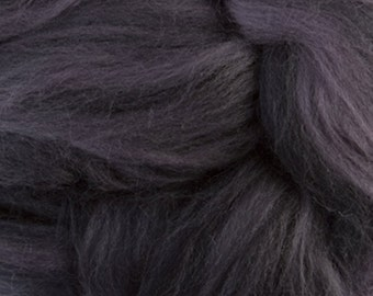 Two Ounces Extra Fine Merino Wool Roving Sugar Candy, Color Chimney Sweep