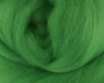 Two Ounces Extra Fine Merino Wool Roving, Color Meadow