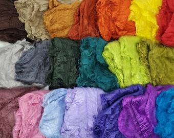 Mawata Silk Hankies 5 Grams for Felting, Spinning, Paper Making, Silk Fusion, and More!