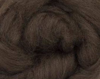 De-Haired Dark Brown Yak Top Roving One Ounce for Felting, Spinning