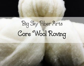 Core Wool Roving, Two Ounces, Needle Felting, 3D felting, Needle Felted Animal, Wool Stuffing