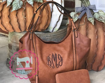 Monogrammed purse with matching wallet 8b853582c60b4