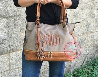 905fe666e2 Kara Monogram Tassel Zip Top purse