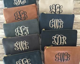 Monogrammed Crossbody/Wristlet purse