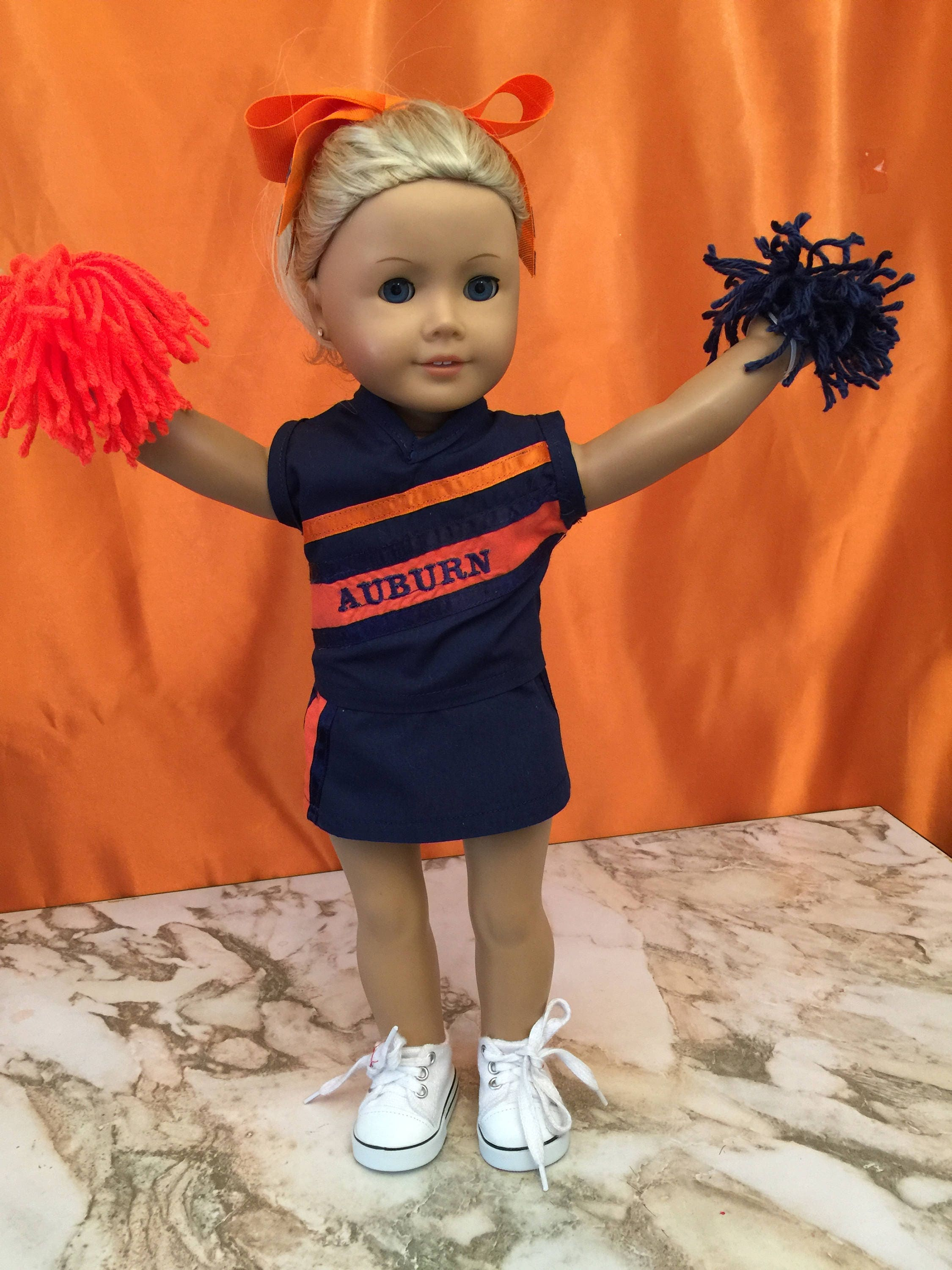 """Navy Blue Cheerleader Fits 18/"""" American Girl Doll Clothes"""