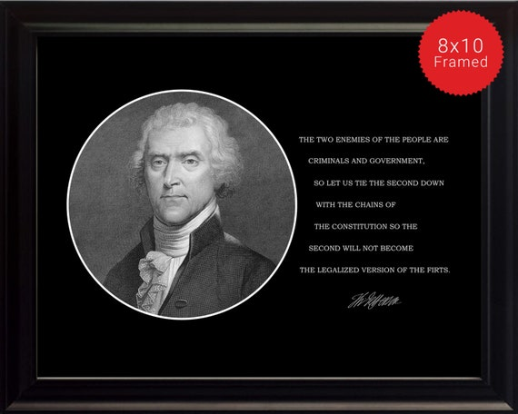Citation De Thomas Jefferson Photo Photo Poster Ou Encadré Les Deux Ennemis Du Peuple Citations Célèbres Présidents Des Usa Haute Qualité