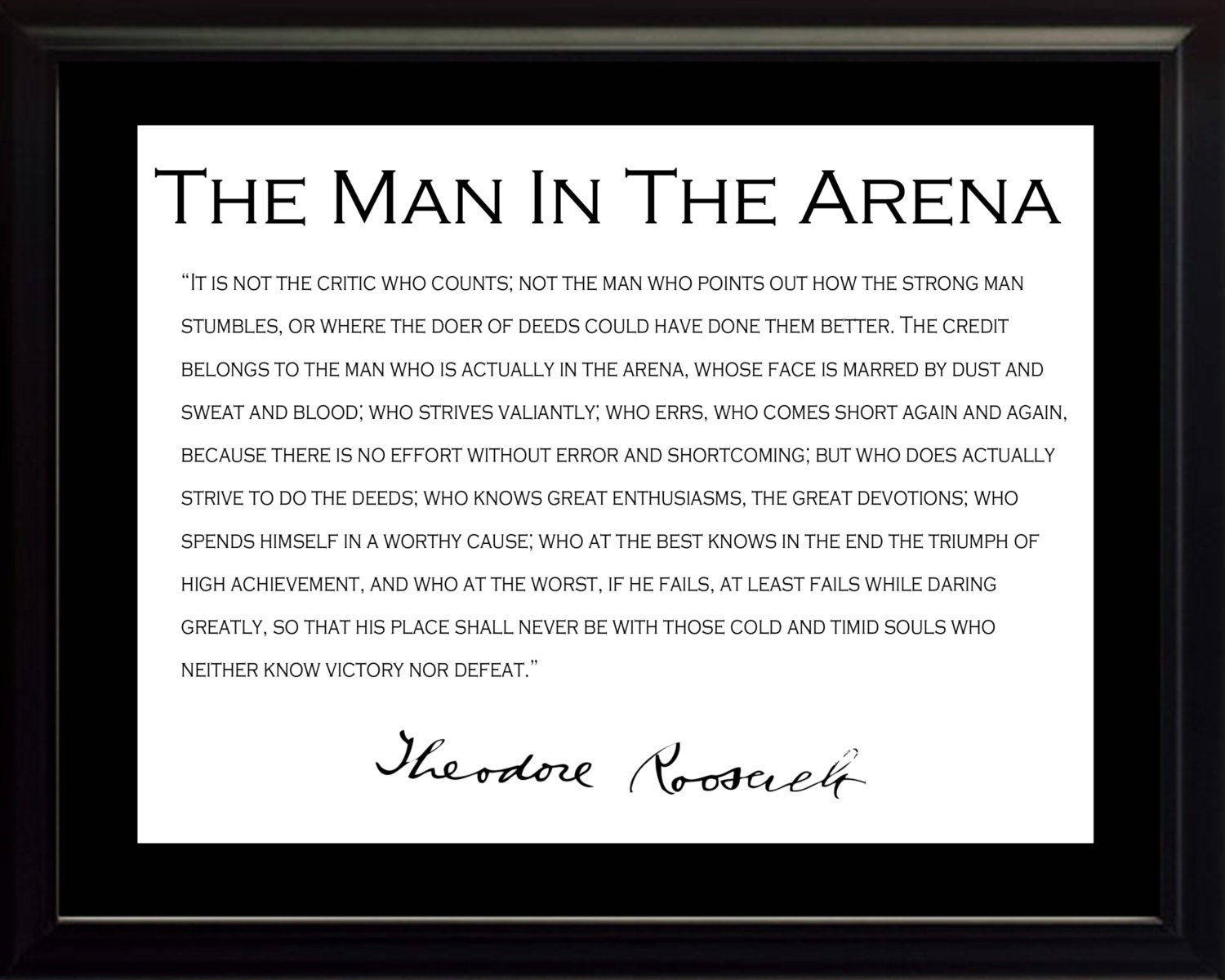 image about Man in the Arena Free Printable named Theodore Teddy Roosevelt \