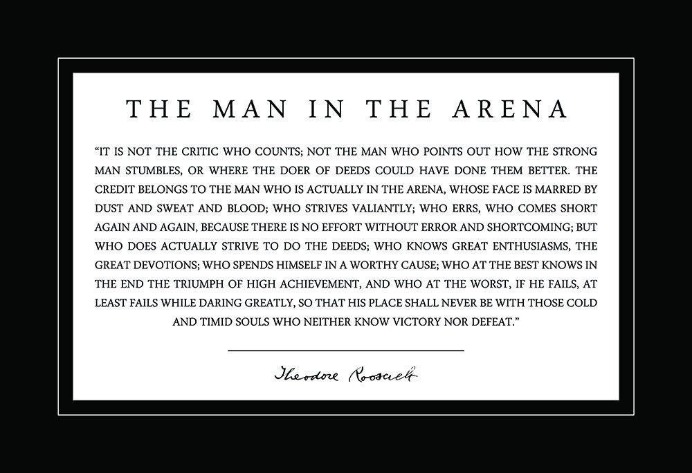 Theodore Teddy Roosevelt Mann in der Arena Zitat   Etsy