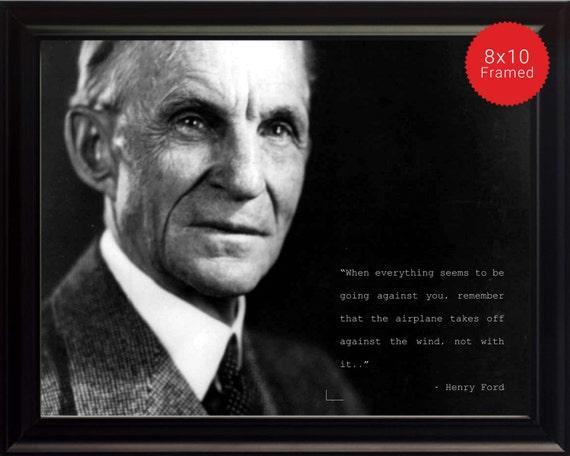 Henry Ford Foto Bild Poster Oder Framed Zitat Wenn Alles Zu Sein Scheint Hohe Qualität Drucken Berühmte Zitate Motivationsposter