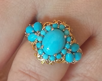 Sleeping Beauty Turquoise Sterling Silver Ring
