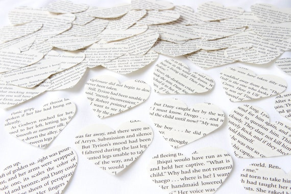 Confetti made with Game of Thrones book pages, Large scrapbook paper  confetti, Recycled book confetti, Wedding confetti, Handmade in England