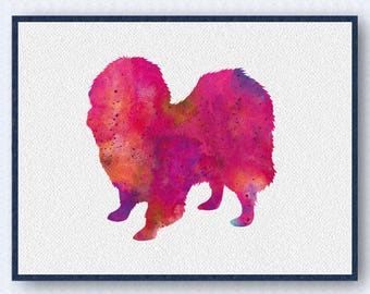 Japanese Chin Watercolor Poster
