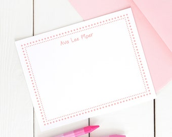 Girls Stationery Kids Stationery Girls Stationary Personalized Girls Note Cards Cute Stationery Set Personalized Girl Gifts Kids Stationary