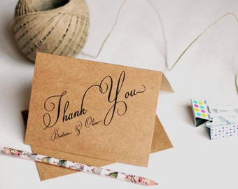 Wedding Thank You Cards Etsy Ca
