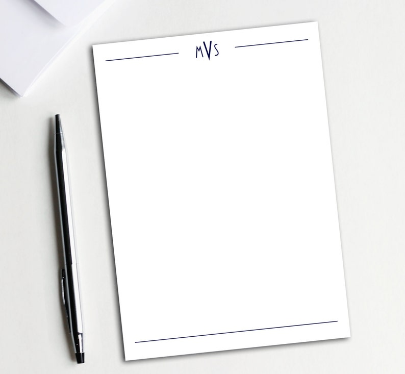 ec8133049668 Monogram Notepad Business Notepad Business Stationary
