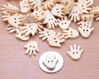 15pcs 18x17mm palm charms,small wood palm for craft,wooden palm button finding,small flat paw supply,wooden thenar beads