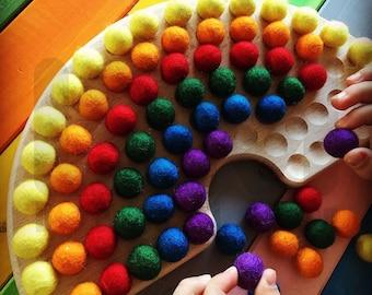 Montessori rainbow made of wood