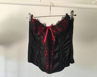 Black and red corset