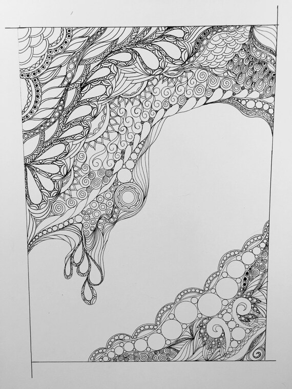 Zentangle Abstract Zentangle Art Abstract Art Black And White Abstract Ink Drawing Wall Art Wall Decor Ink Art Original Drawing