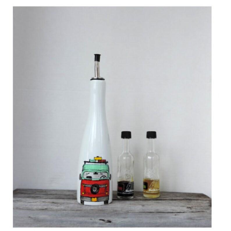 Wonderful HOSTESS GIFT maple syrup BOTTLE handpainted add your quote,16 oz or 450 ml Christmas gift for oil,vinegar Westfalia design