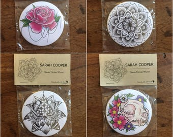 76mm Pocket Mirrors with Various Designs