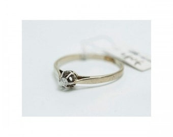 Ring solitaire Mineralife white gold, Platinum and diamond