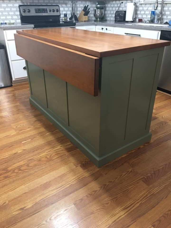 Item 138dl Kitchen Island With Seating Custom Made Kitchen Etsy