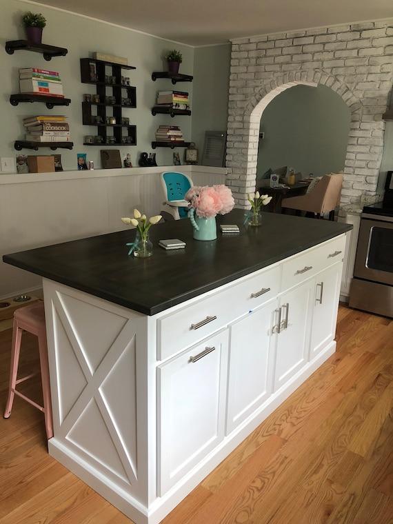 Item 79x Kitchen Island With Seating Custom Kitchen Island Etsy