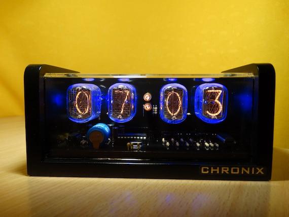 Unique retro 6xIN-12 Nixie Tubes Clock CNC machined aluminum case alarm retro