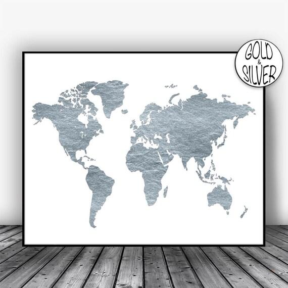 World map poster world map art print world map wall art etsy image 0 gumiabroncs Choice Image