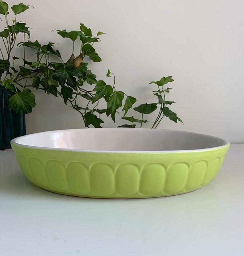 Rare Vintage Lime Green Casserole Baking Dish by Rastal Germany circa 1970s RASTAL P19